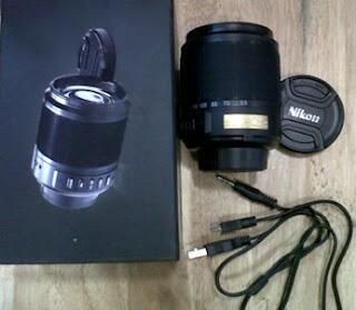 Jual Speaker Model Lensa Nikon - MP3, microSD, Radio FM