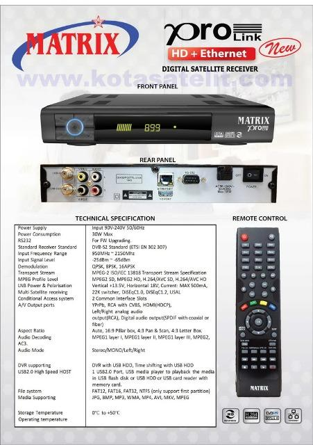RECEIVER NEW MATRIX HD-YOUTUBE GARANSI 1TH MURAH