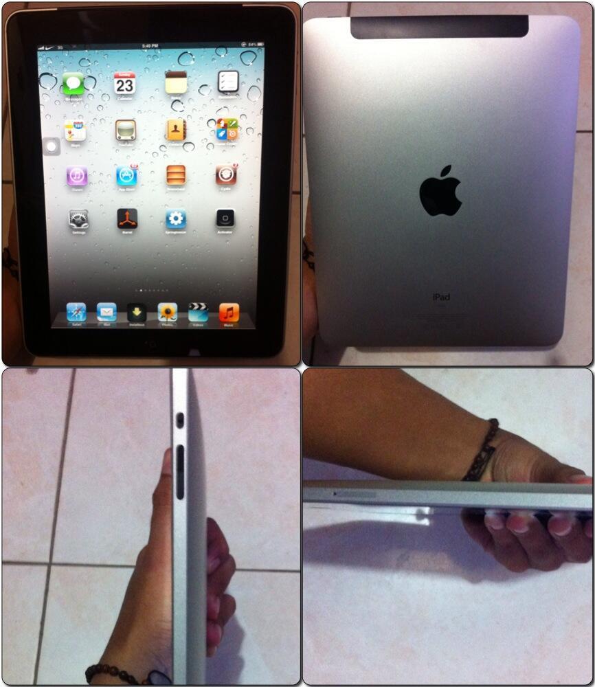 iPad 1 3G + Wifi 64gb fullset mulus istimewa jogja