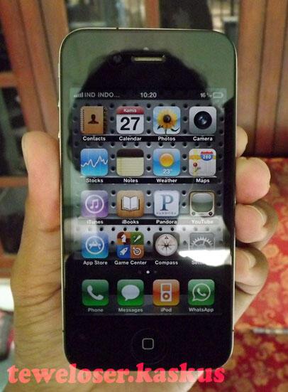 iphone 4 16gb SU unlock, Black (mulus) 3.7k COD Jkt