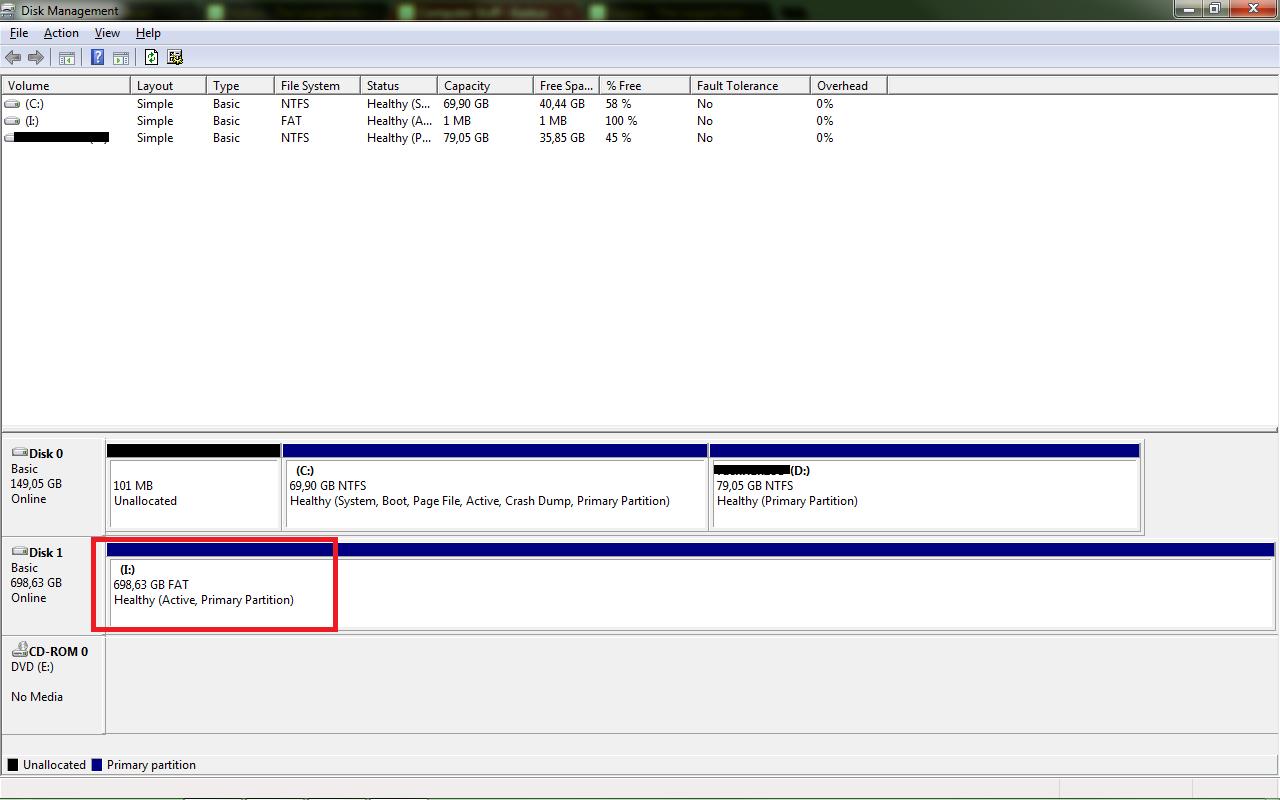 [HELP] TIBA2 HDD 750GB ane JADI FAT dan Size CUma 1MB doankk ?