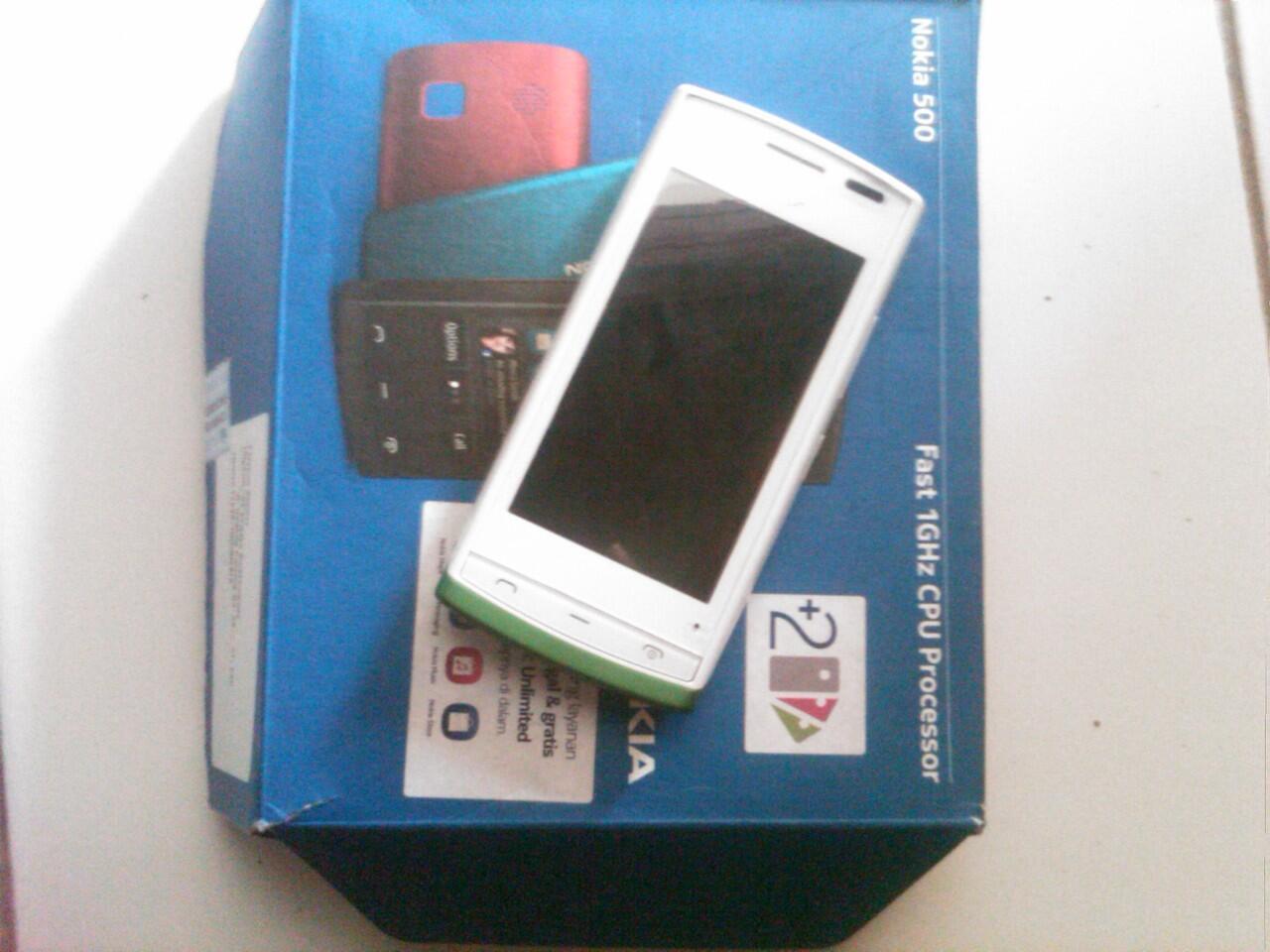 Jual Nokia 500 White Kondisi sangat mulus Yogyakarta