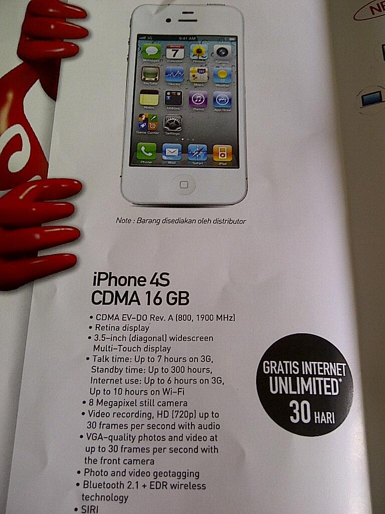 Terjual Promo Blackberry GSM, BB CDMA, Iphone 4S Cdma, Smartfren ...