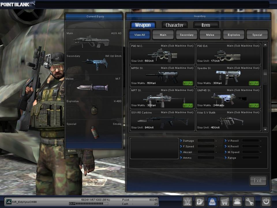JUAL CHAR POINT BLANK COLONEL GRADE 3