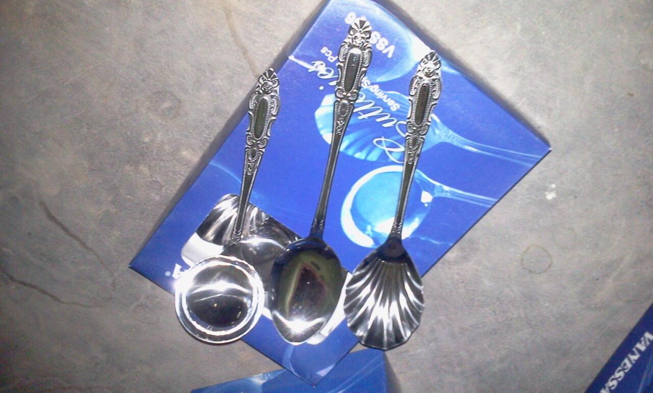 Jual Murah Sendok Stainless Steel Asli Merk Vanessa bisa dipakai untuk Prasmanan