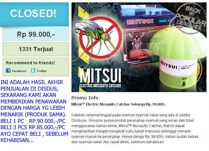 Di Jual Mitsui TM Electric Mosquito