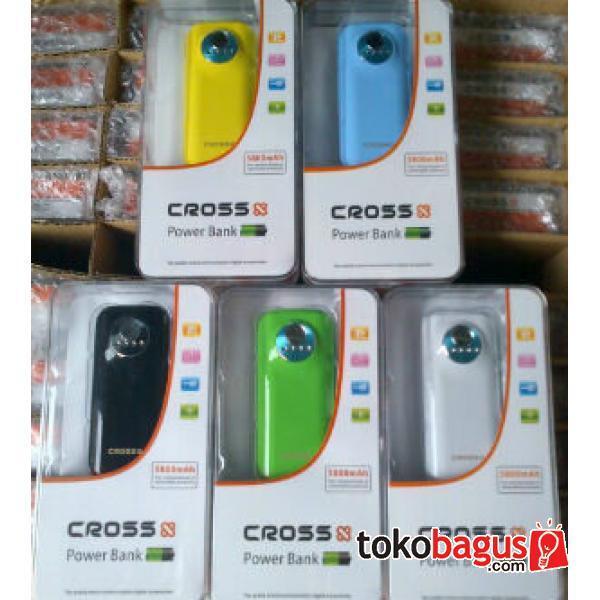 Power Bank Charge Portable Cross 5800 mah 8800 mah