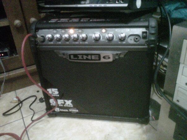 wts: sound gitar line 6 spider 3 15 watt murah !!
