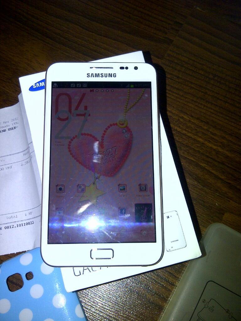 Samsung Galaxy Note N-7000 WHITE 99% GARANSI Panjang BONUS 7 casings