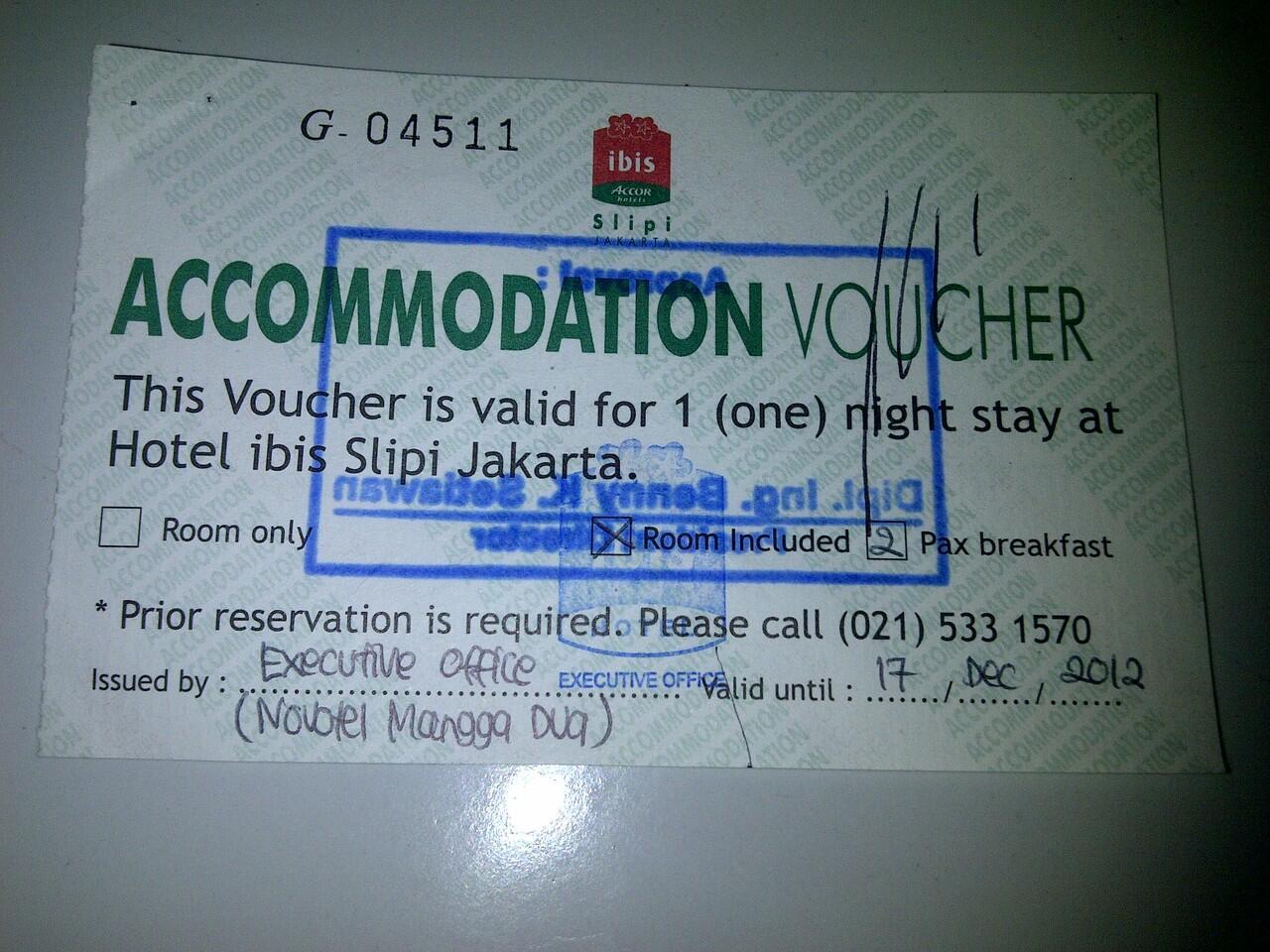 Jual Murah Voucher Hotel IBIS SLipi>> MUrah Bangettt ....GRAB IT FAST!!!!!!!
