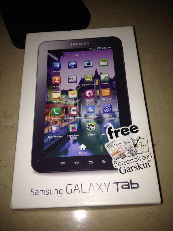 galaxy tab 16gb white GT-P1000. Box lengkap 90%