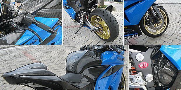 WTS :Kawasaki ninja 250 th 2009 black FULL Speck