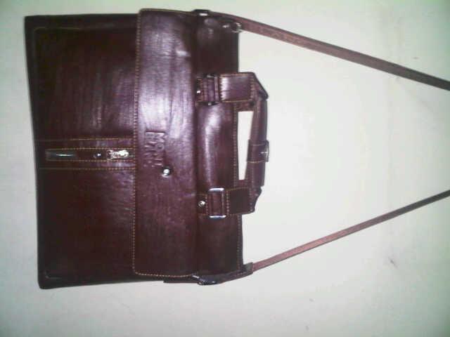 tas kulit laptop kerja kuliah montblanc