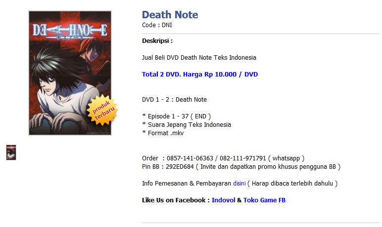 Jual DVD Anime Naruto,onepiece,bleach dan Voucher Game Online Terlengka
