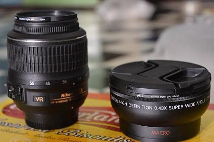 Dijual lensa 18-55 vr +filter pro Tama UV ultra slim 52mm + ring step up 52 – 67mm U