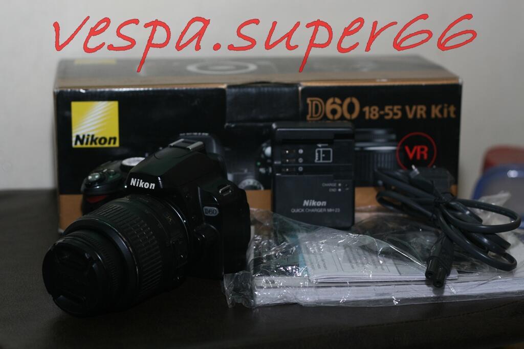 WTS Nikon D60+Kit 18-55mm VR FULLSET Jogja