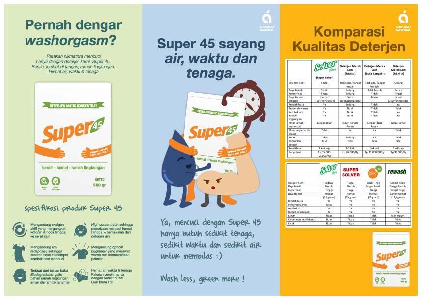 [Deterjen Super 45] Deterjen Laundry Matic Ramah lingkungan (Distributor)