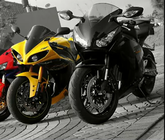YAMAHA R1 2010 CADMIUM YELLOW FULL AFTERMARKETS - RARE COLOUR ONLY 1 IN INDONESIA