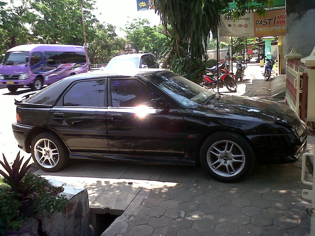 Mazda Astina GT Hitam, tahun 93