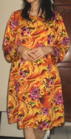 BAJU DRESS HAMIL BUATAN RUMAH BAGUS MURAH