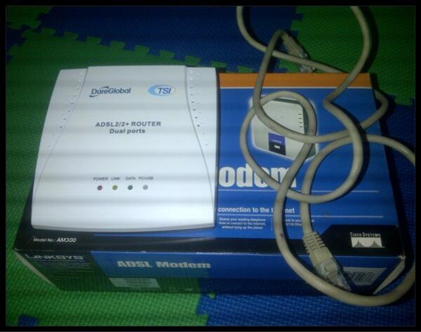 JUAL Modem ADSL/speedy Linksys AM300 - BONUS MODEM TSI!! MURAH!!!