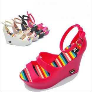 jelly wedges rainbow murah