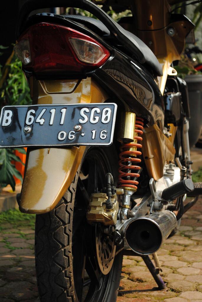 supra fit new 2006 bulan 6 hitam