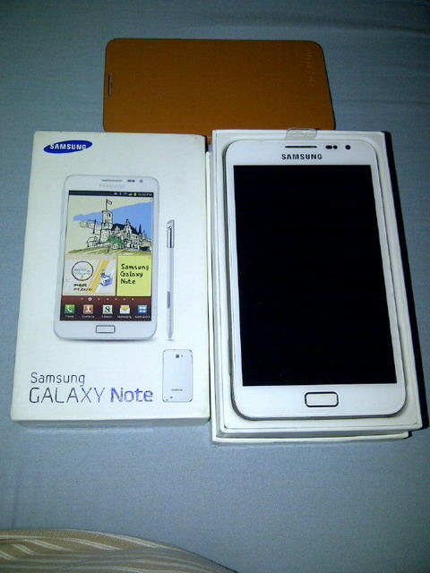 sale galaxy note white N 7000 second mulus