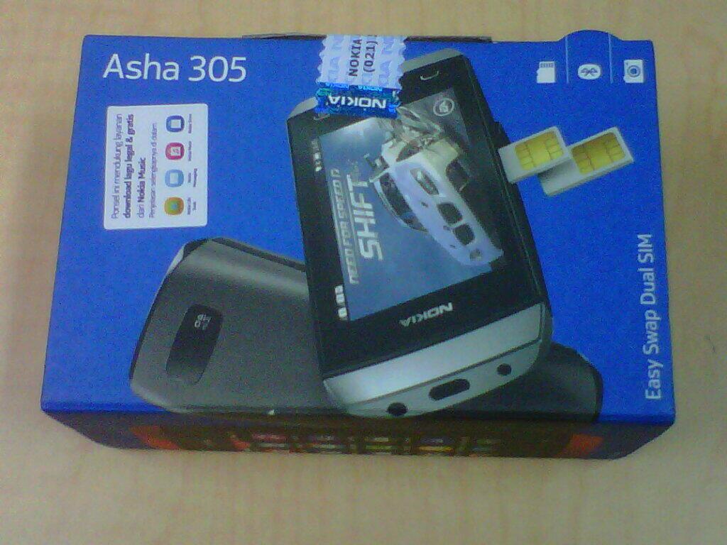 JUAL Nokia ASHA 305 BNIB Blue