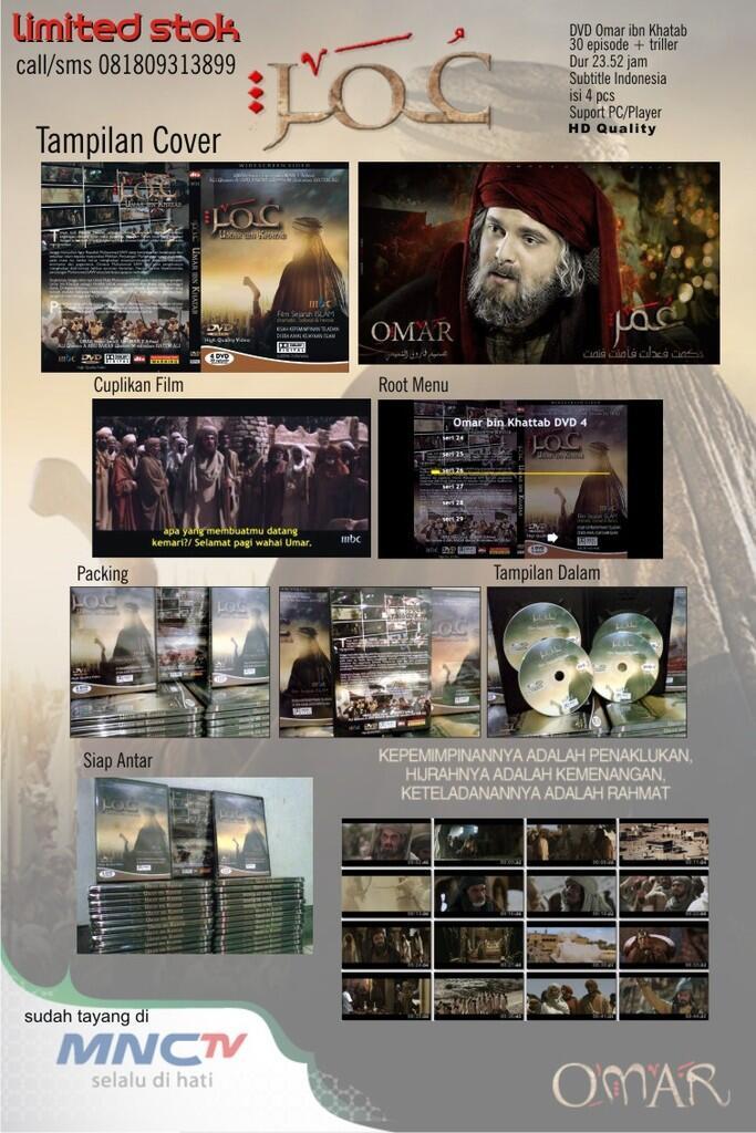 DVD FILM OMAR BIN KHATTAB