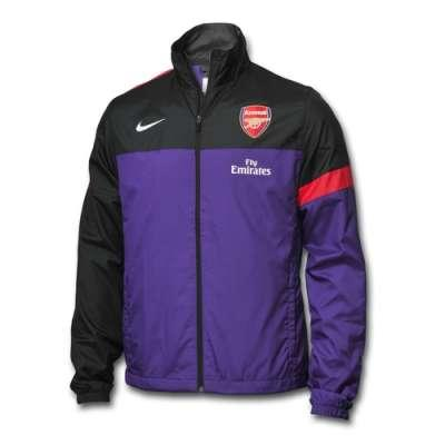 Ready Stok Jaket Arsenal / Jacket Authentic Nike98 Arsenal Black n Sideline Purple