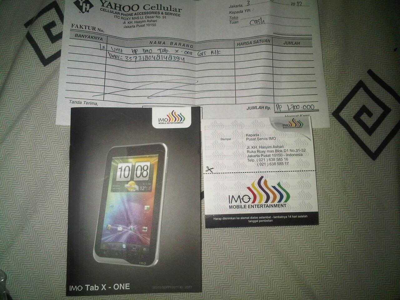 dijual IMO Tab X1 (second)