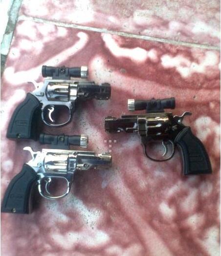 [GROSIR] Korek Api Pistol Revolver dilengkapi sinar Laser