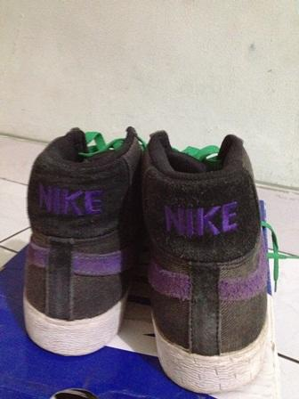 For Sale NIKE SB BLAZER Black/Varsity purple 2nd 100% ori!!