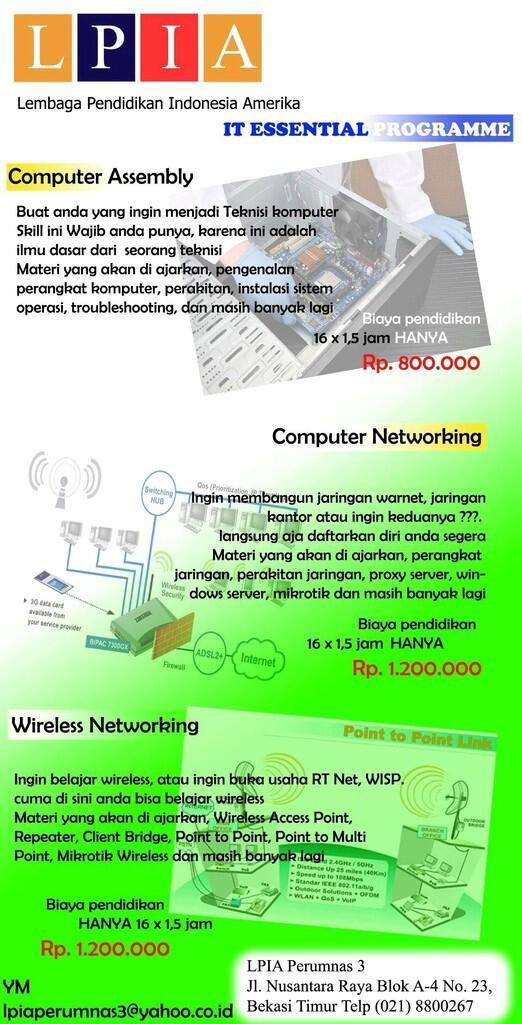 Kursus Komputer, Jaringan, Wireless