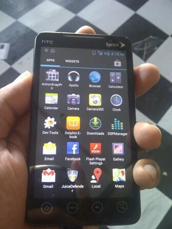 HTC EVO 4G BLACK SUDAH INJECT 1.45JT