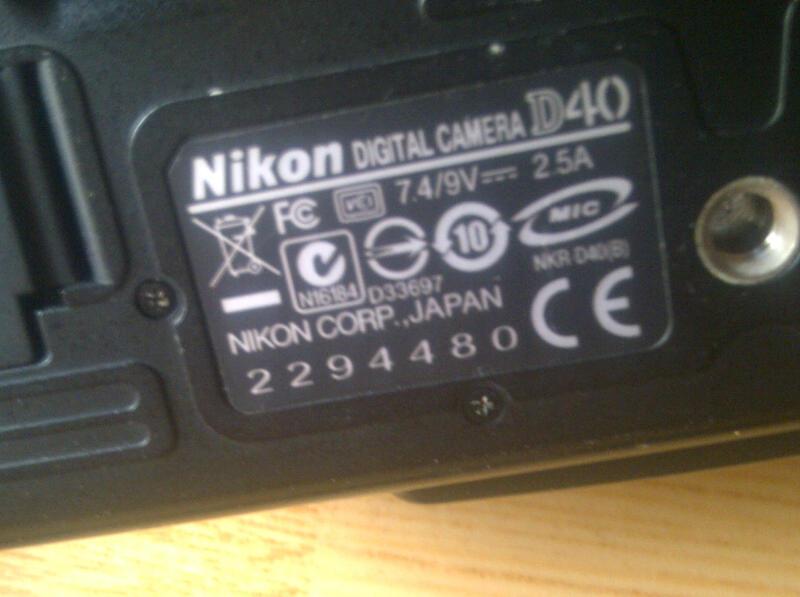 Dijual NIKON D40. Box Lengkap, Mulus 97%. SC 11.000an.