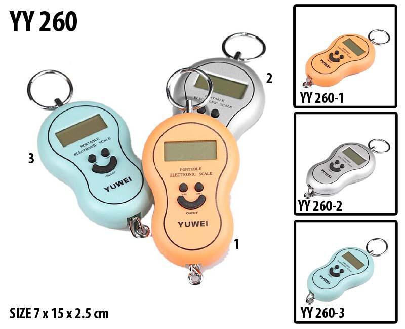 Timbangan badan koper saku gantung Thermometer Hygrometer/Higrometer digital