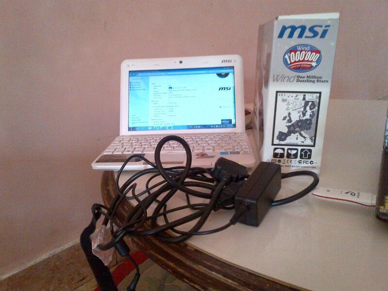 WTS netbook MSI U135DX PUTIH/WHITE