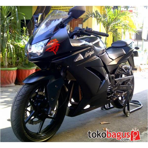Jual Kawasaki Ninja 250 Hitam Doff Limited Edition 2010, Mampirr Gan!!!!