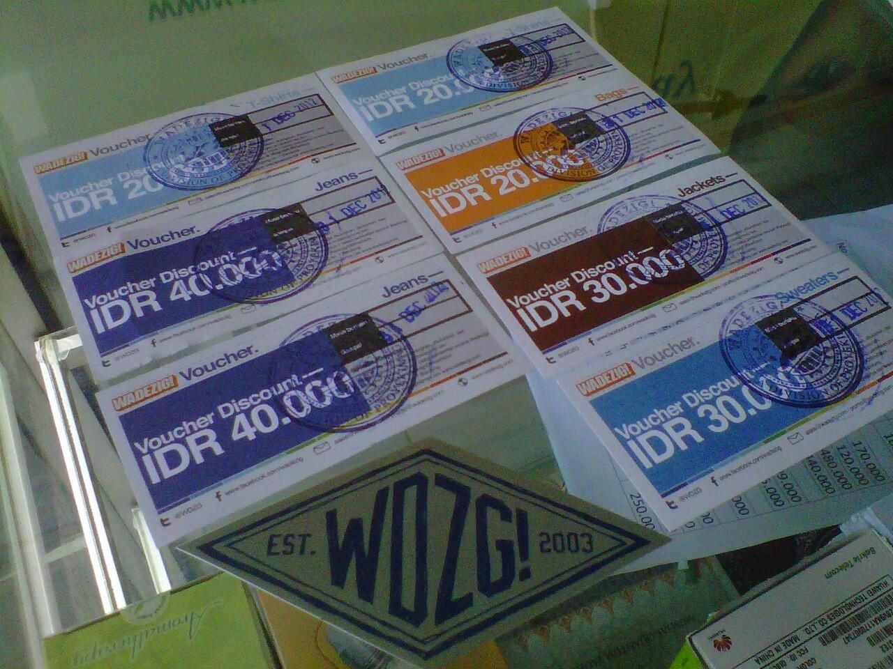 [WADEZIG] Voucher Wadezig 600rb dijual hanya 150rb siapa cepat dia dapat!!!!