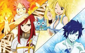 anime one piece , naruto , fairy tail and hunter x hunter