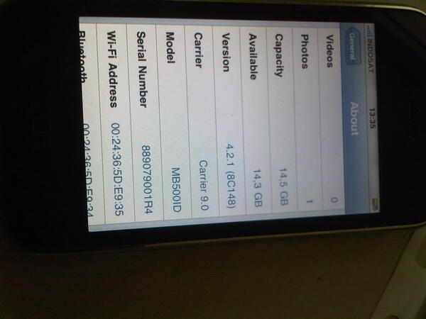 Iphone 3G White 16Gb [Bandung]