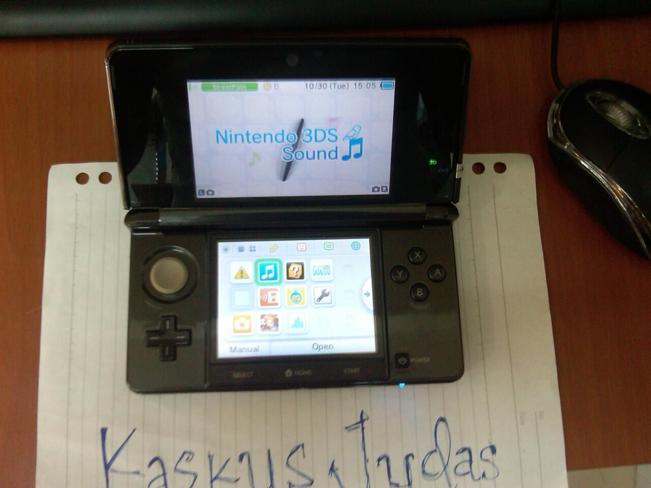 Nintendo 3DS Cosmo Black Murah ( like new )