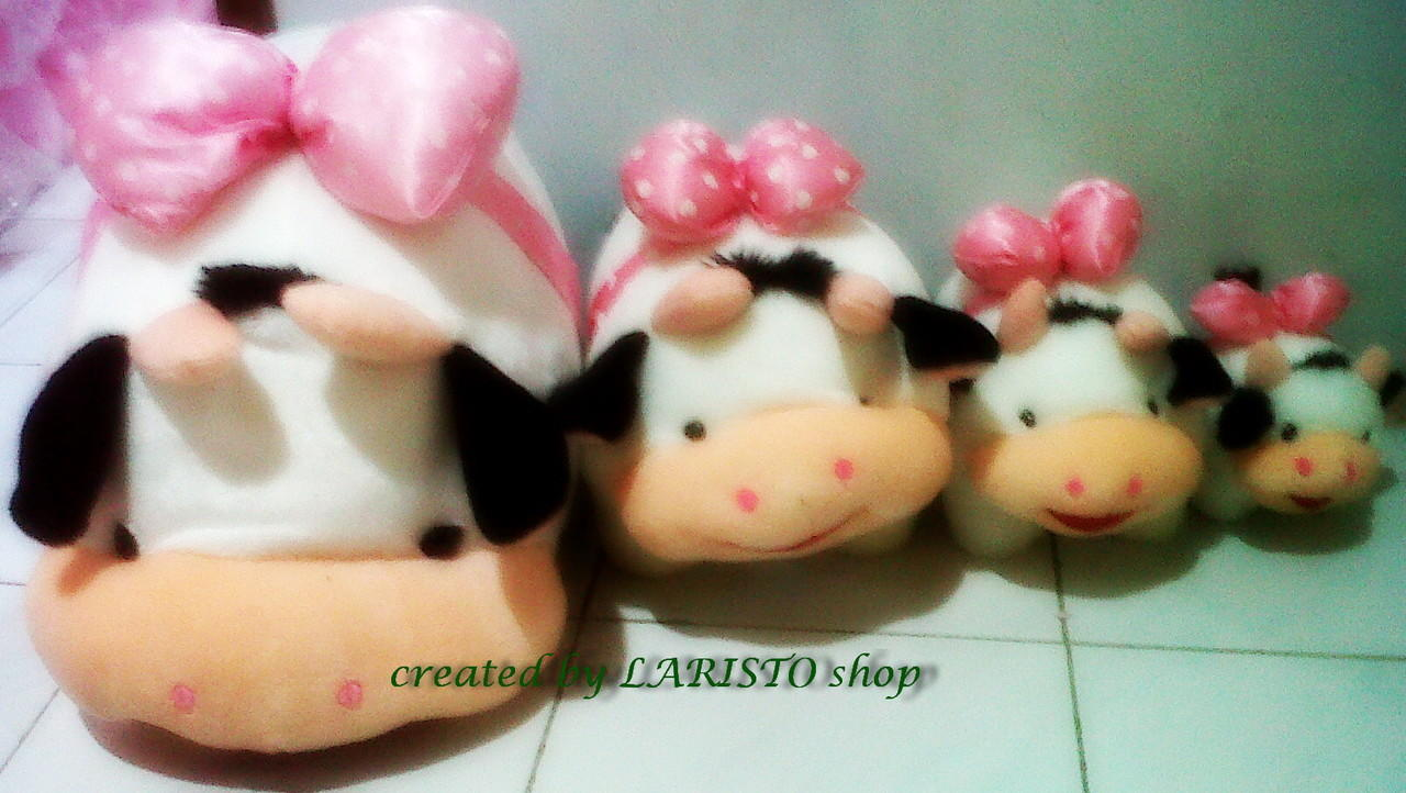 Boneka Sapi / cow berbagai ukuran murah