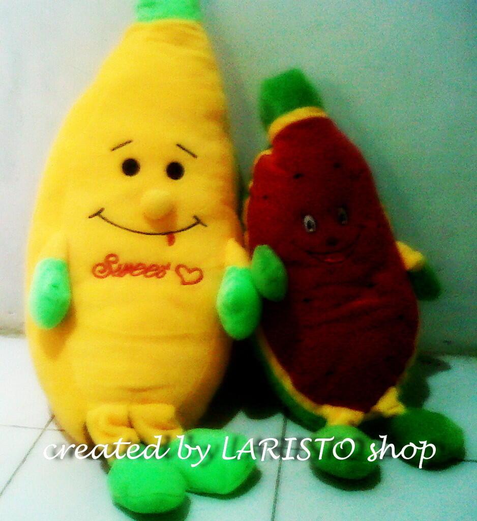 Boneka semangka atau pisang berbagai ukuran murah