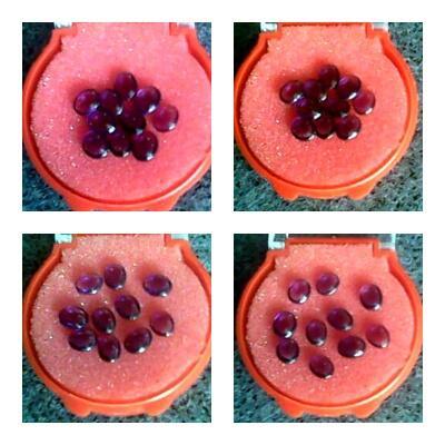 Natural Amethyst / Kecubung Ungu Kalimantan 10 Pieces