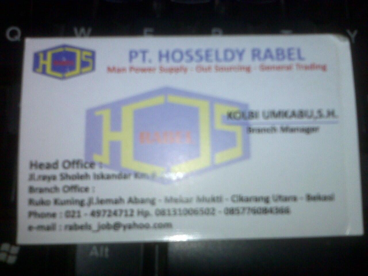 PT. HOSSELDY RABEL penyalur tenaga kerja, itu BOHONG