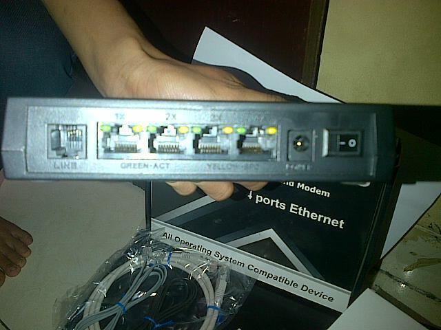 JUAL MODEM ABBATEC TZ3 ADSL2/2+ 4 PORTS ETHERNET