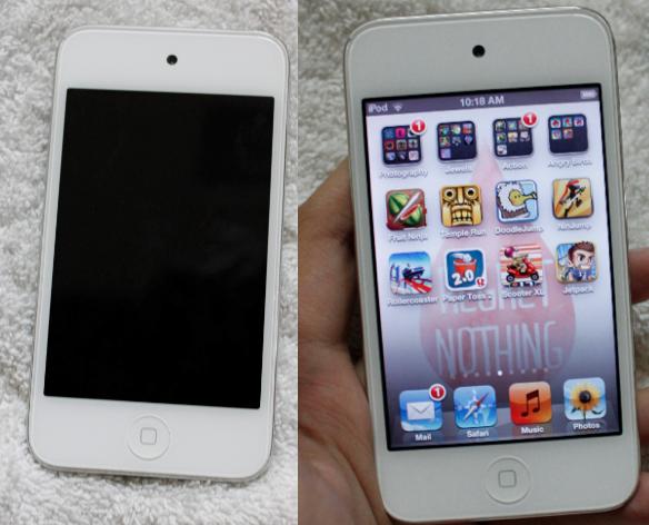 Jual: iPod touch gen 4 white/black 64GB! mulus kinclong 99%! MURAH